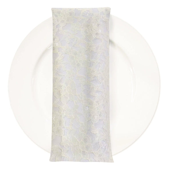 Classic Lace (w/ Poly Lining) Table Napkin in Ivory