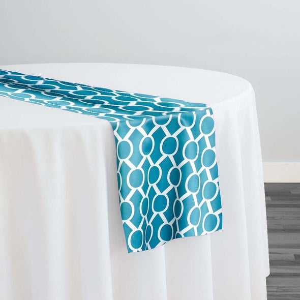 Halo Print (Lamour) Table Runner in Jade