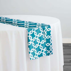 Lynx Print (Lamour) Table Runner in Jade