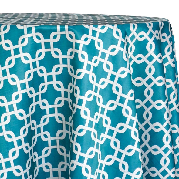Lynx Print (Lamour) Table Linen in Jade