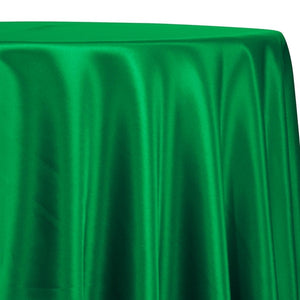 Lamour (Dull) Satin Table Linen in Kelly Green 1260