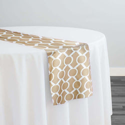 Halo Print (Lamour) Table Runner in Khaki