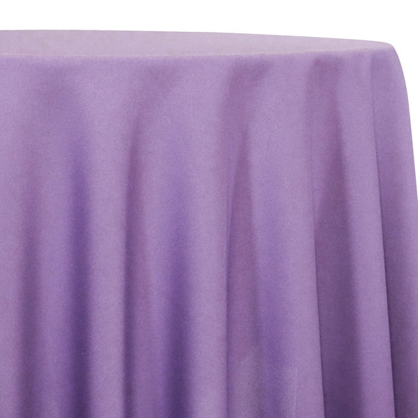 Lamour (Dull) Satin Table Linen in Lavender 1170