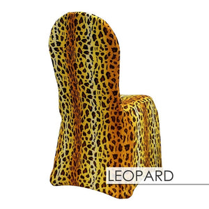 100pcs - Leopard Spandex Print Chair Covers