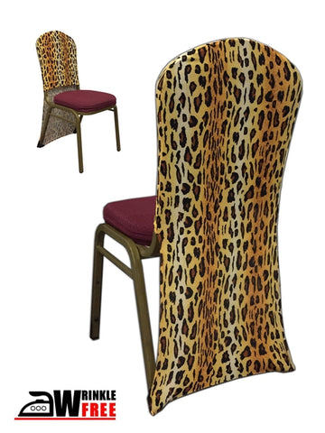 Spandex Chair Back - Leopard