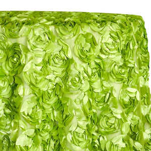 Peony Bouquet Table Linen in Lime