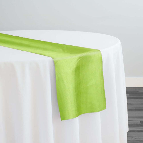 Shantung Satin Table Runner in Lime