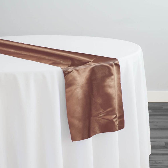 Bridal Satin Table Runner in Light Brown 051
