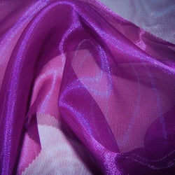 Crystal Organza Table Runner in Magenta 592