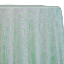 Classic Lace Table Linen in Mint 1765