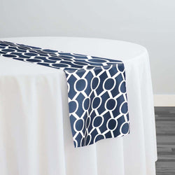 Halo Print (Lamour) Table Runner in Navy