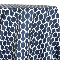 Halo Print (Lamour) Table Linen in Navy