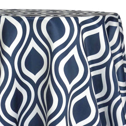 Groovy Print (Lamour) Table Linen in Navy