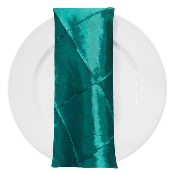 "4"" Pintuck Taffeta Table Napkin in Oasis 065"