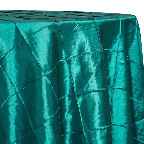 "4"" Pintuck Taffeta Table Linen in Oasis 065"