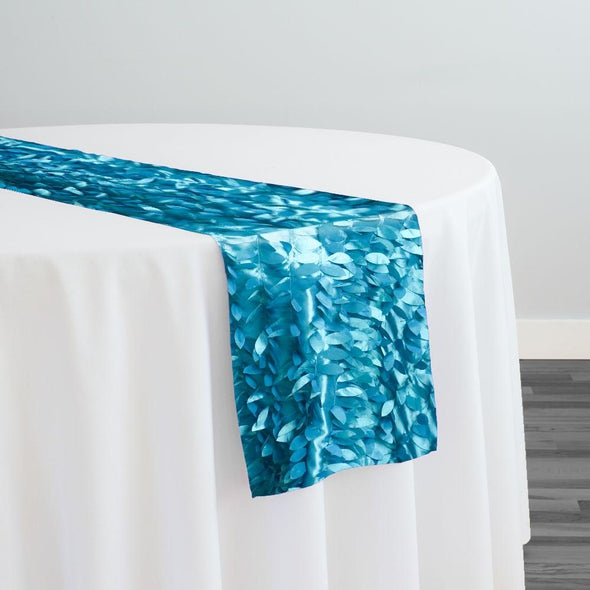 Leaf Hanging Taffeta Table Runner in Oasis