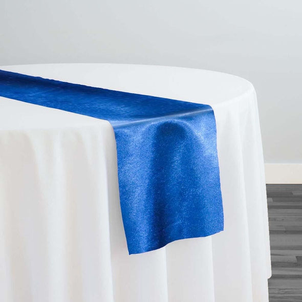 Shantung Satin Table Runner in Ocean Blue