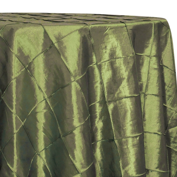 "4"" Pintuck Taffeta Table Linen in Olive 056"