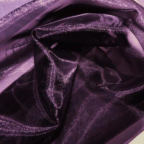 Crystal Organza Wholesale Fabric in Plum 720