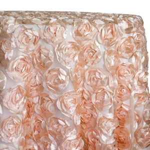 Peony Bouquet Table Linen in Peach
