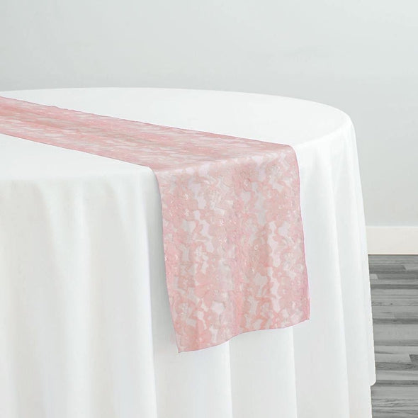 Classic Lace Table Runner in Peach 4122