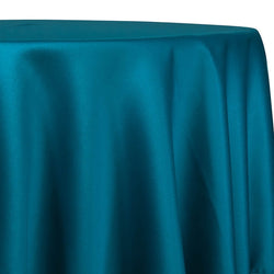 Lamour (Dull) Satin Table Linen in Peacock 6777
