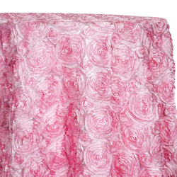 Rose Satin (3D) Table Linen in Pink D 157