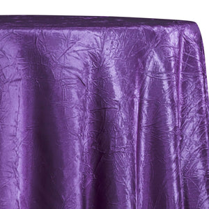 Crush Satin (Bichon) Table Linen in Plum 555