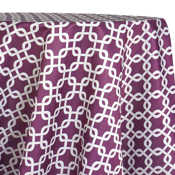 Lynx Print (Lamour) Table Linen in Plum