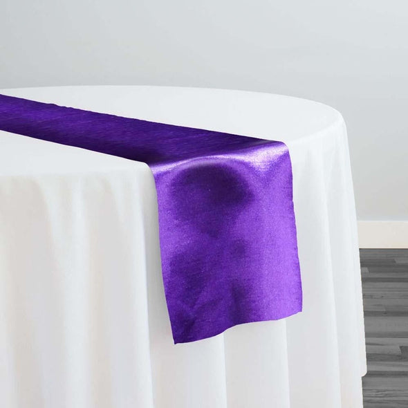Shantung Satin Table Runner in Plum