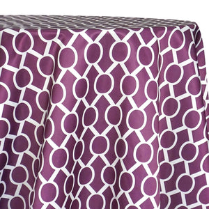 Halo Print (Lamour) Table Linen in Plum