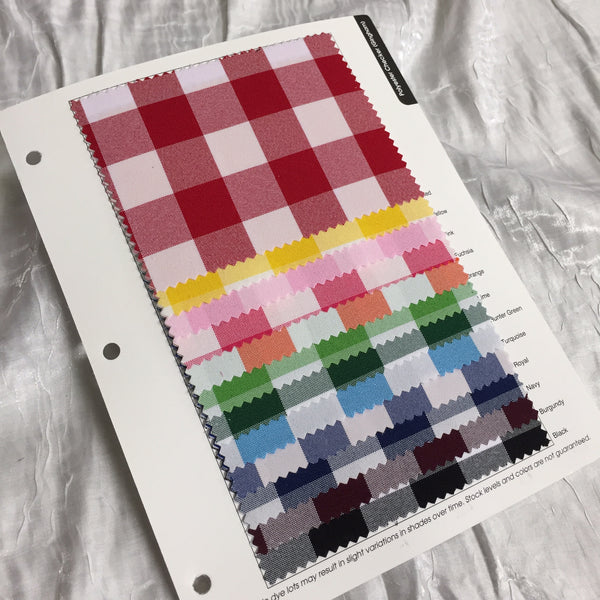 Polyester Checker (Gingham) Color Card