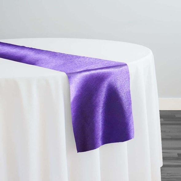 Shantung Satin Table Runner in Purple