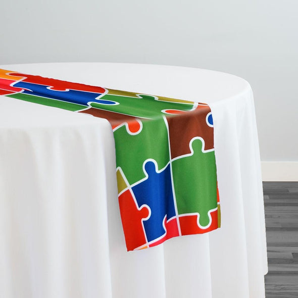 Puzzle (Poly Print) Table Runner