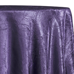 Crush Satin (Bichon) Table Linen in Raisin 356