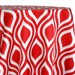 Groovy Print (Lamour) Table Linen in Red