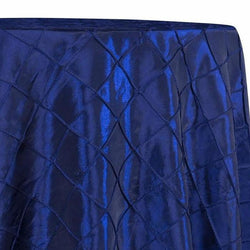 "2"" Pintuck Taffeta Table Linens in Royal 048"