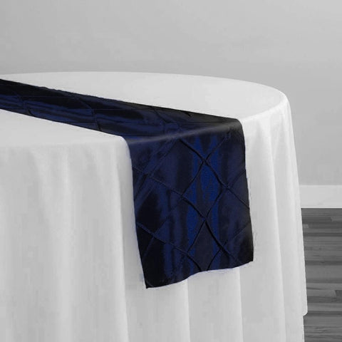 "2"" Pintuck Taffeta Table Runner in Royal 048"