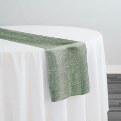 Imitation Burlap (100% Polyester) Table Runner in Sage
