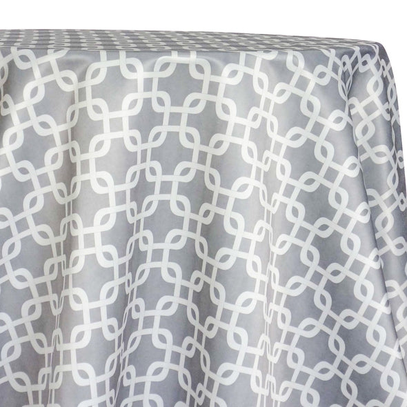 Lynx Print (Lamour) Table Linen in Silver