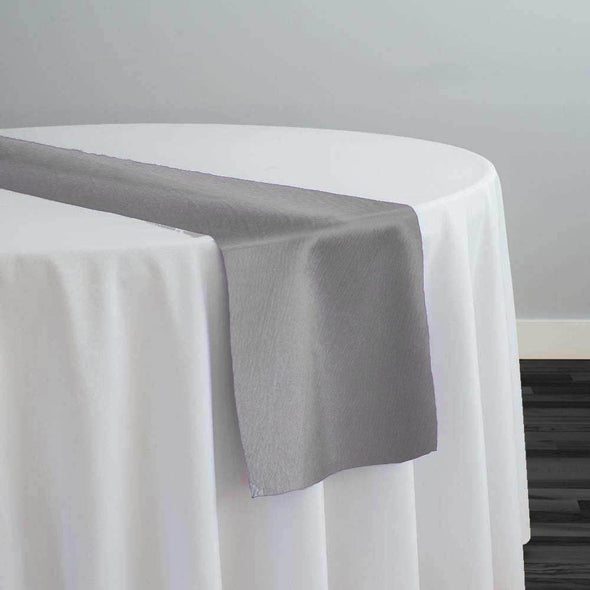 Luxury Satin Table Runner in Silver