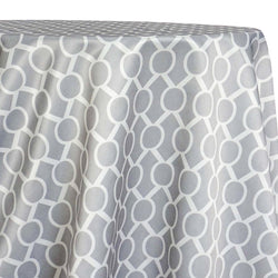 Halo Print (Lamour) Table Linen in Silver