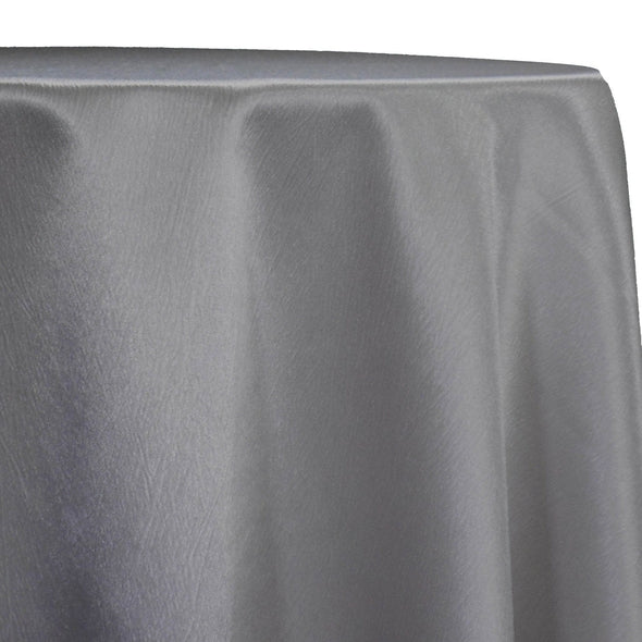 Luxury Satin Table Linen in Silver