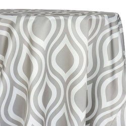 Groovy Print (Lamour) Table Linen in Silver