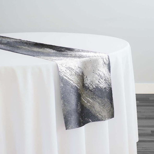 Element Jacquard Table Runner in Silver