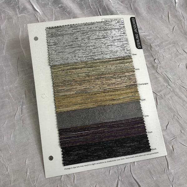 Sterling Jacquard Color Card