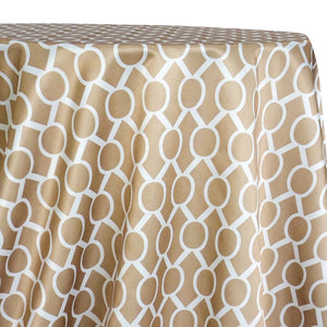 Halo Print (Lamour) Table Linen in Taupe