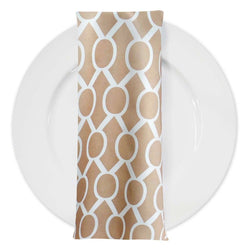 Halo Print Lamour Table Napkin in Taupe