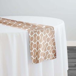 Halo Print (Lamour) Table Runner in Taupe