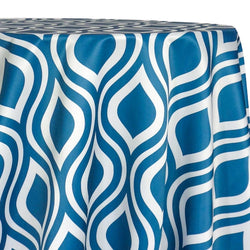 Groovy Print (Lamour) Table Linen in Teal
